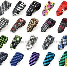 """Панк Checker покер музыка полосой печати плотные цветные штаны-скинни тонкий узкий """" галстук 5 см галстуки Свадебная вечеринка галстук для жениха продать"""