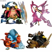 1pcs Anime One Piece Seven Warlords Of The Sea Sir Crocodile Jinbe Boa Hancock Marshall D Teach 1/7 pvc action figure model toys