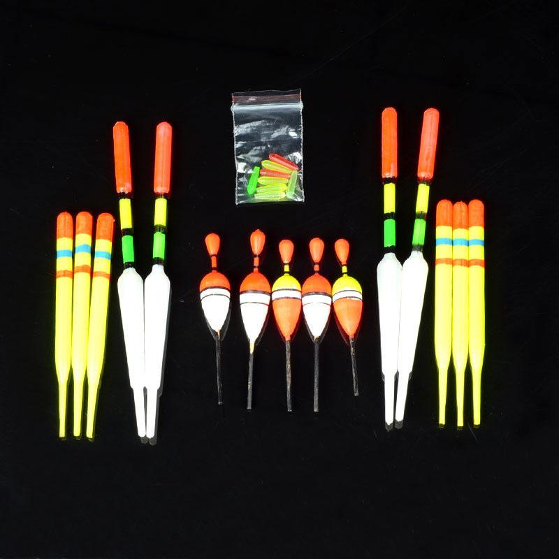 15 pcs/set Fishing Floats Kit Freshwater Vertical Buoy Set ASD88