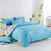 Polyester Cotton Soft Yellow Pattern Cartoon Style Fashion Bedding Bed Linen Bed Sheet Duvet Cover Pillowcase 4Pcs Bedding Sets