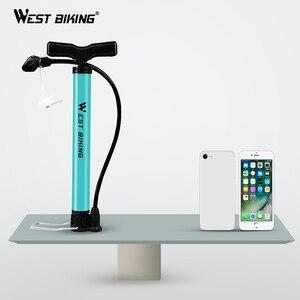 Image 5 - WEST BIKING – pompe à Air en acier, 120 psi, Turquoise, cyclisme, Valve Schrader Presta, pour pneus de vélo, vtt