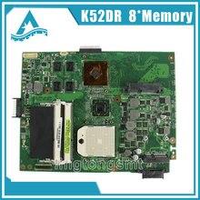 Pour ASUS K52DR mère d'ordinateur portable A52DE K52DE A52DR K52D Notebook carte mère HD5470 avec 8 pcs mémoire vidéo carte 100% testé