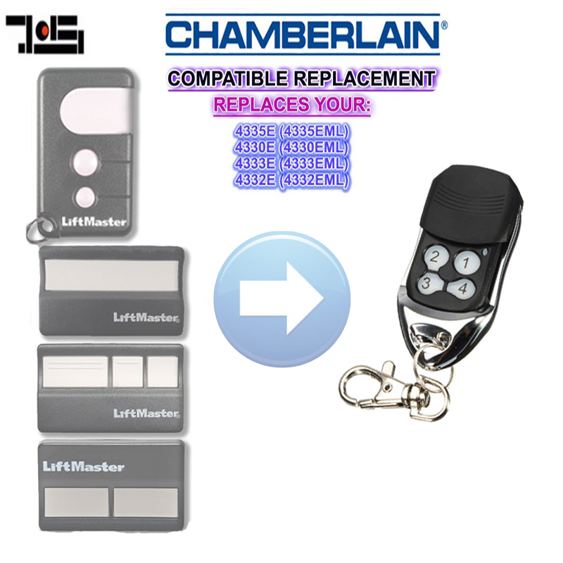 For CHAMBERLAIN Liftmaster 4330E (4330EML),4332E (4332EML),4333E (4333EML),4335E (4335EML) Replacement Remote 433.92mhz