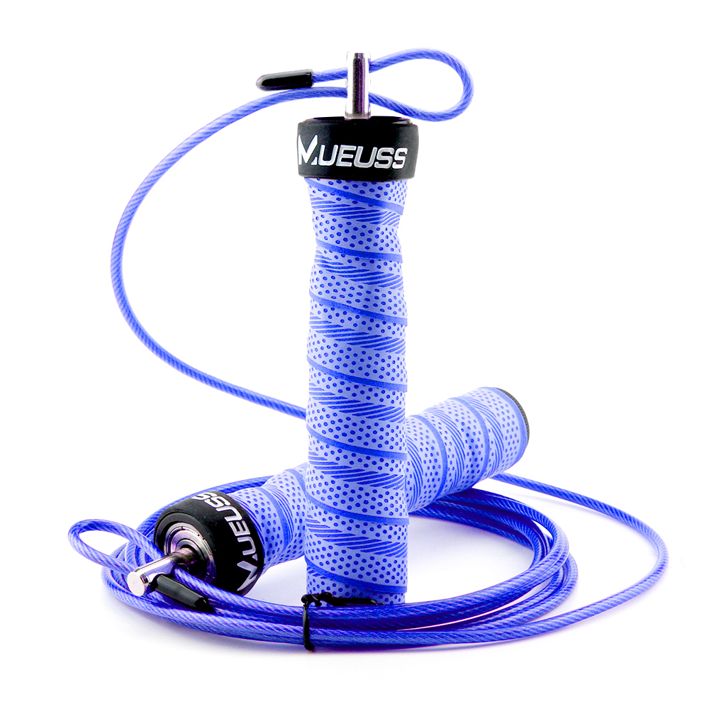 High Speed Jump <font><b>Rope</b></font> Professional Adjustable <font><b>Skipping</b></font> <font><b>Rope</b></font> With Portable Bag Skip <font><b>Rope</b></font> Anti-Slip <font><b>Handle</b></font> For Double Under In Blue image