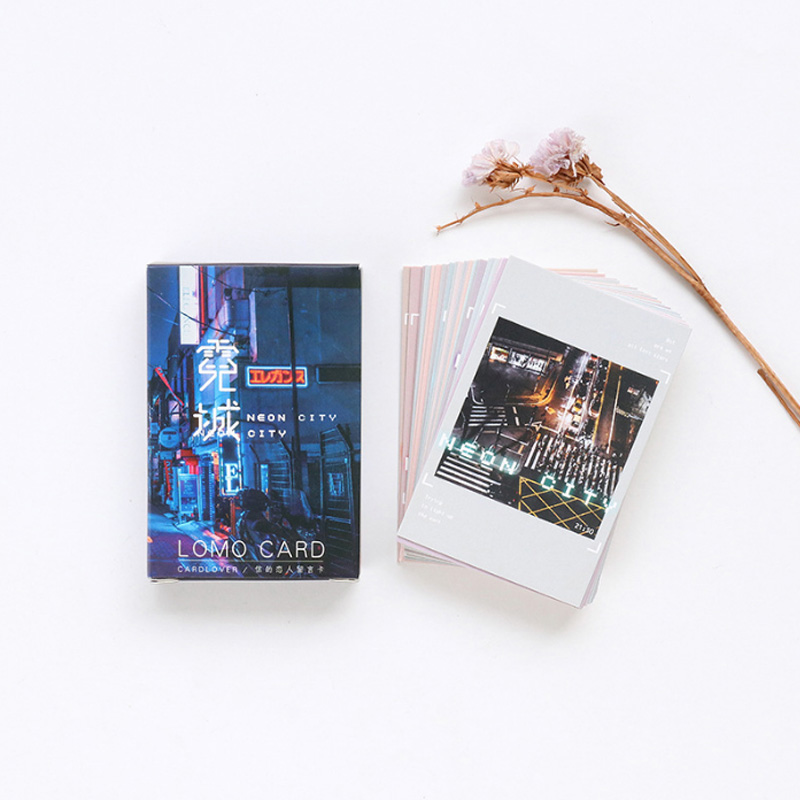 Well-Educated 28 Pcs/lot Creative Cute Neon City Card Postcard Birthday Greeting Card Letter Envelope Gift Card Set Message Card Moderate Price Paper Envelopes Office & School Supplies