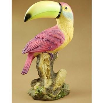 Macaws Faux Wood Decorative Figurine Art Statue Animal Psittacidae Resin Art&Craft Home Decoration R199