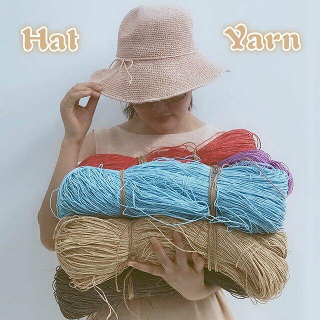 2019 gorący kapelusz na lato przędzy przędzy na drutach 500 g/partia rafia słomy przędzy szydełkowanie przędzy na ręcznie robione kapelusze kosze rękodzieła