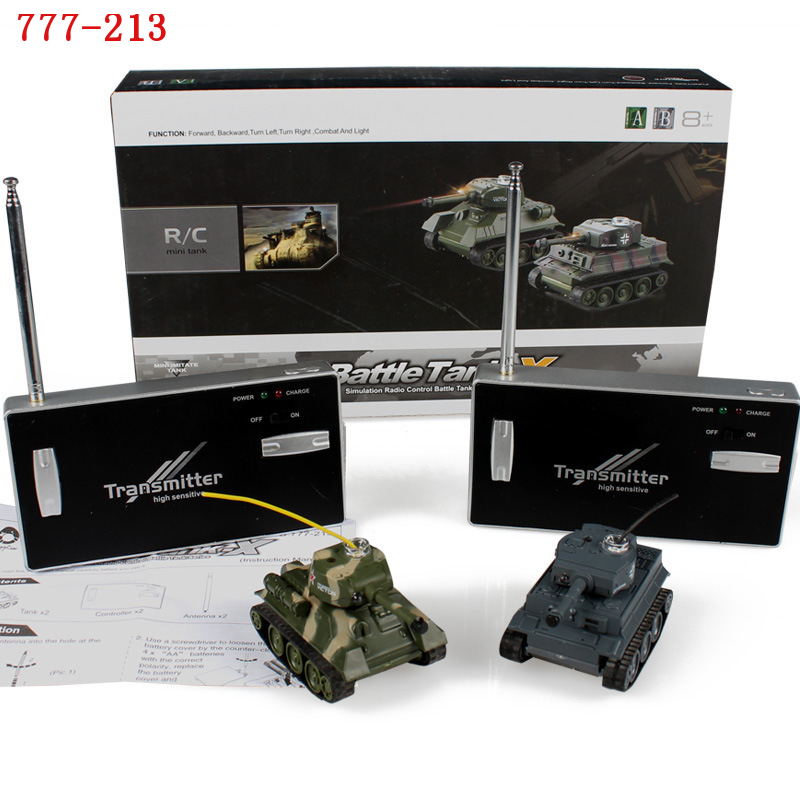 Happycow 777-213 4CH 27Mhz RC Battle Tank Two Mini Fighting Tanks Remote Control  tanks  Electric Toys With Light  Kids Gift