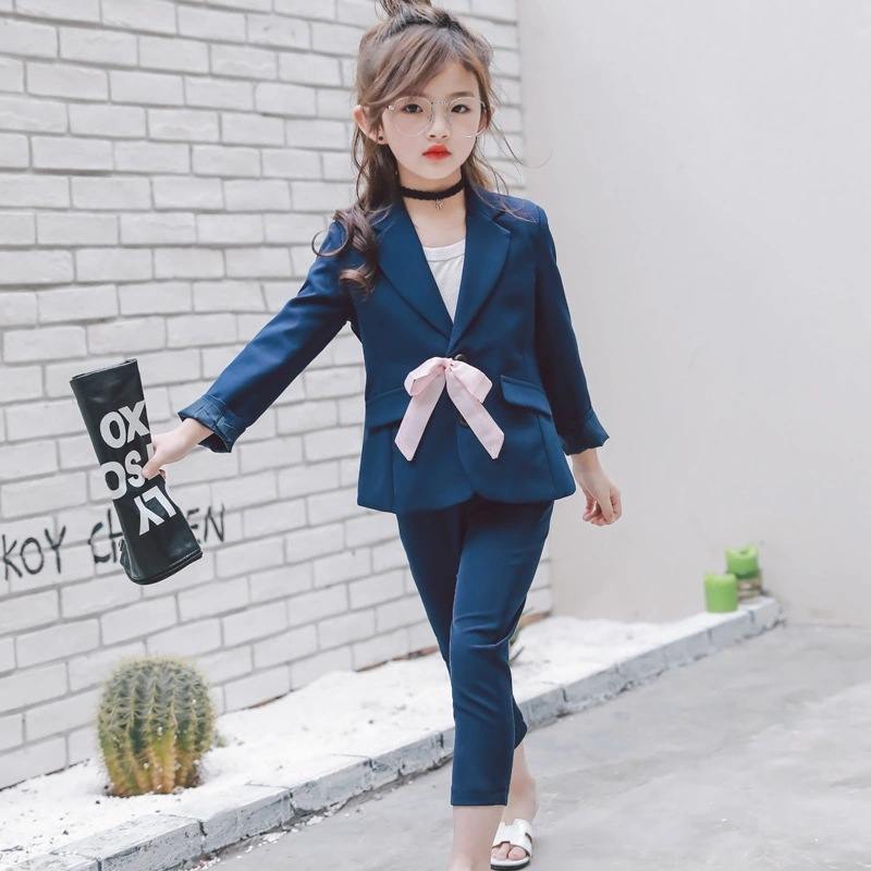 Fashion Baby Girls Clothing Set Children Suits Coat + Pants 2pcs Children Outfits Set For Girl New Spring Autumn Kids Clothes