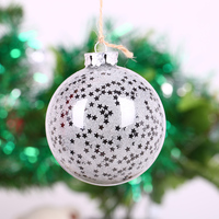 80mm Christmas Decoration Supplier Ball Ornament Star Wedding Bauble Event Party Festival Decor Xmas Tree Pendant