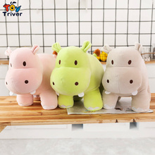2016 hot sale lovely cute 1pc cartoon hippo with sunflower plush stuffed toy doll baby boy girlfriend valentines birthday gift