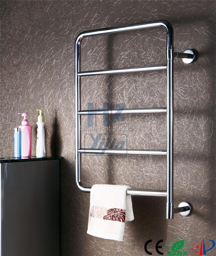 Fashionable Free Swing Stainless Steel Wall Towel Rack Spa Bathroom Shelf Toallero Calefactor