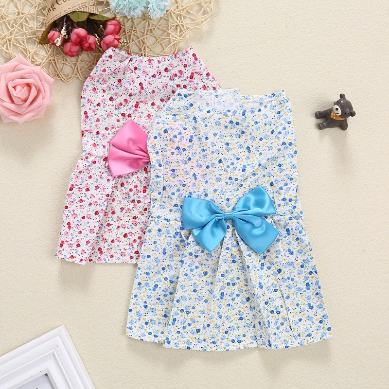 Pet Lovely Floral Dress Luxury Princess Dress Puppy Dog Summer Wedding Dress