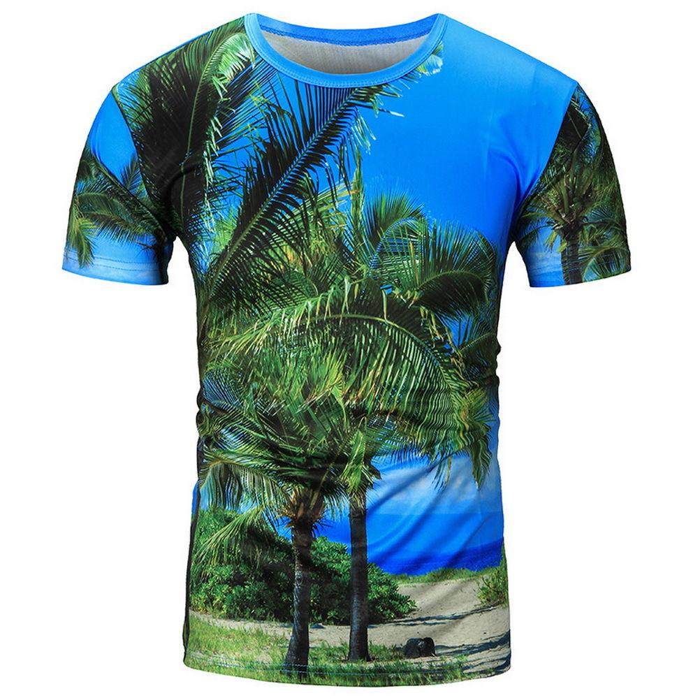 Christmas tree novelty christmas tree china http www gd wholesale com - 2017 New Hawaiian T Shirts Fashion 3d Coconut Trees Galaxy Space Printed T Shirts Women