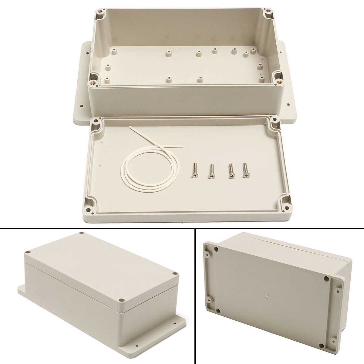 1pc Waterproof Enclosure Box Plastic Electronic Project Instrument Case 200x120x75mm electronic enclosure project box 1 pcs 204 143 78mm plastic waterproof enclosure instrument box electronical junction box