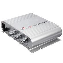Mini Hi-Fi CD MP3 Radio Car Auto Motocicleta Home Audio Estéreo Amplificador de Altavoces Bass Boostrer Player 12 V 200 W
