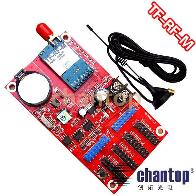 все цены на TF-RF-M RF communication led control card 1280*32/640*64 pixels 700 meters Short-range wireless RF receiving controller онлайн