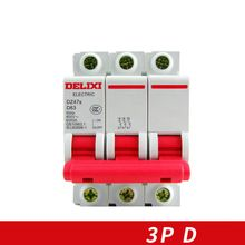 Miniature Circuit breaker Air switch  DZ47s-63 DELIXI MCB 3Pole