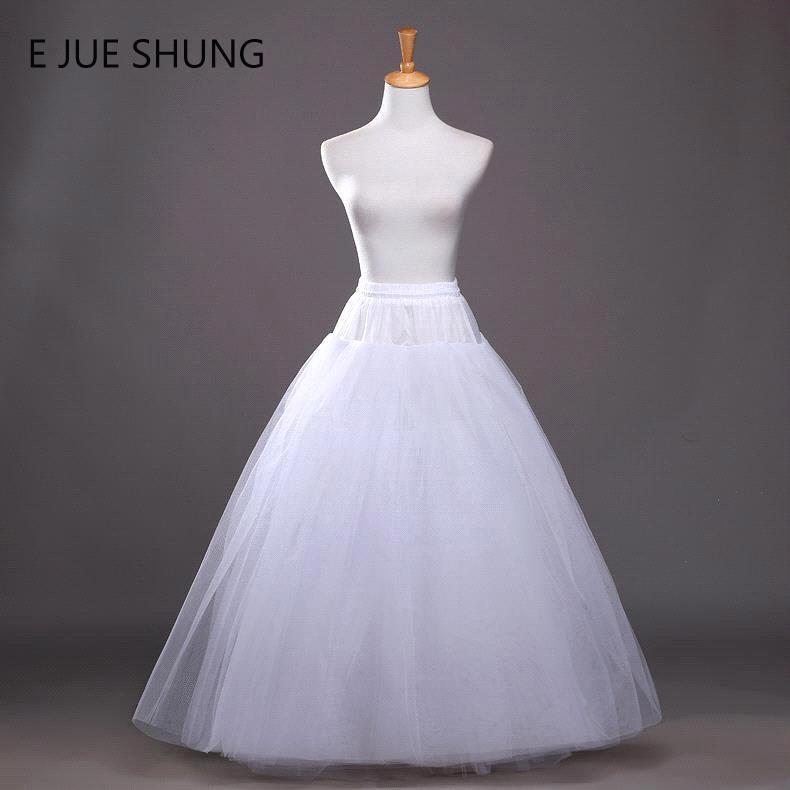 E JUE SHUNG Free Shipping A-line Petticoat For Wedding High Quality Tulle Underskirt Crinoline