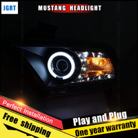 JGRT Car Style LED Headlights For Ford Mustang 10 12 For Mustang Head Lamp LED DRL