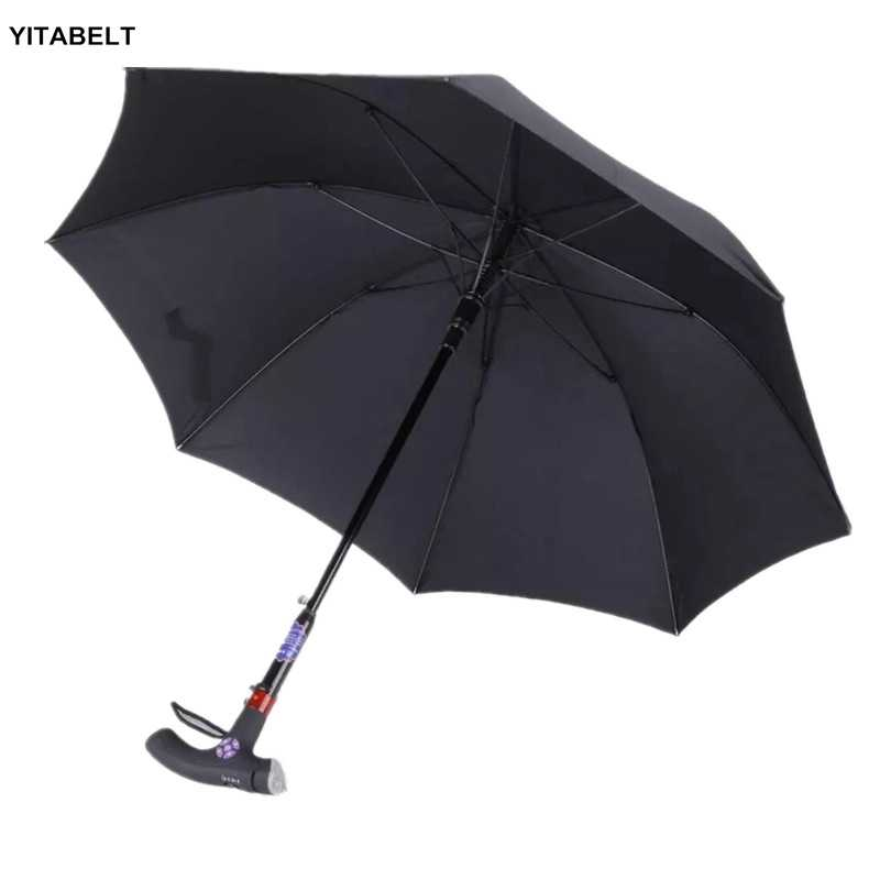 84410fea5606 Walking Cane Umbrella Cane Old Man Parasol Mountaineering rain ...