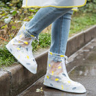 Reusable Unisex Waterproof Rain Boots All Seasons Shoe Cover Transparent Women Men Rain Cover for Shoes Anti-Slip Shoe Protector