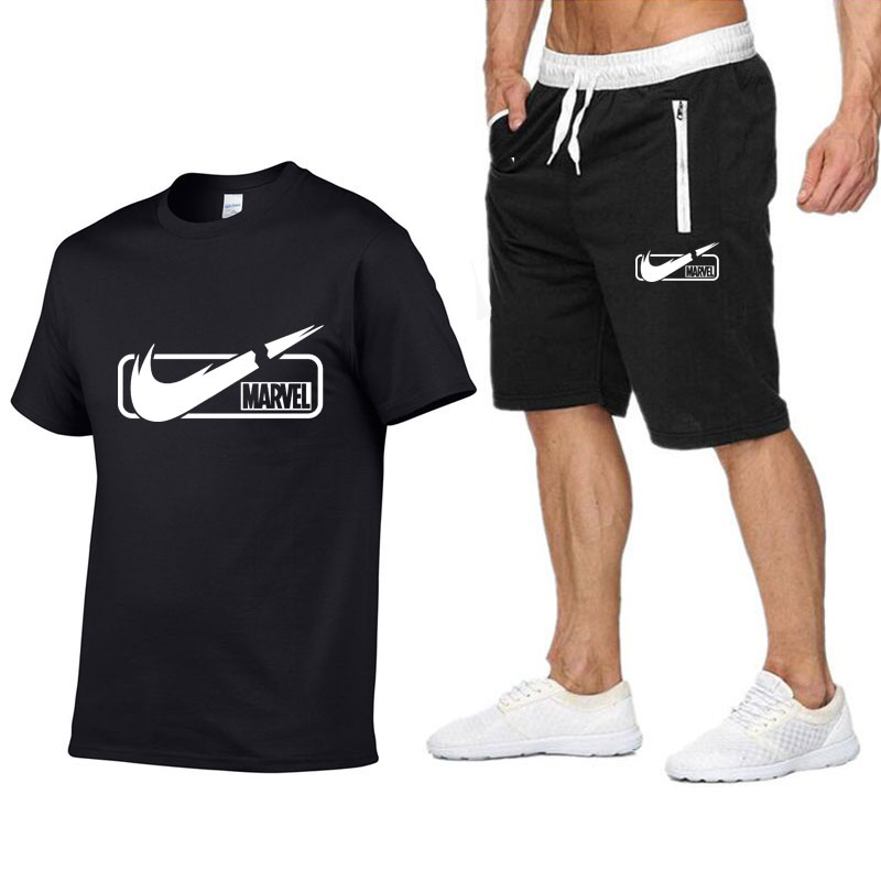 2019-new-brand-mens-t-shirt-shorts-set-summer-short-sleeve-tracksuit-gyms-casual-male-t-shirt-2-piece-brand-clothing