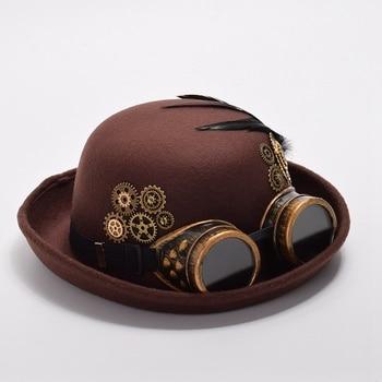 Шляпа в стиле Стимпанк с очками в ассортименте 1