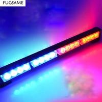 FUGSAME 10cm 16 Leds Emergency Lights Flash Warning Led Light 16W Hight Power Strobe Light Fireman Police Flash Stroboscope