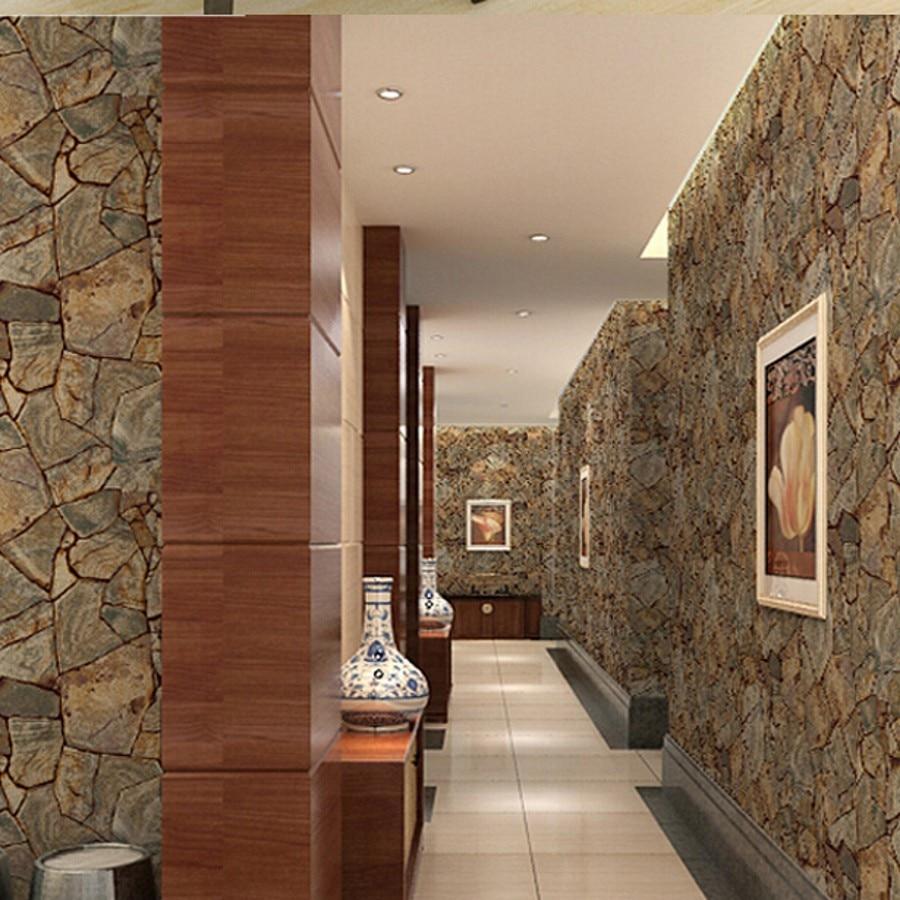 beibehang Vinyl Imitation Stone Brick Grain papel de parede 3d Wallpaper Wall Decor For Living Room Bathroom Wallcovering beibehang luxury stone brick wall vinyl wallpaper roll papel de parede 3d living room background wall decor art wall paper