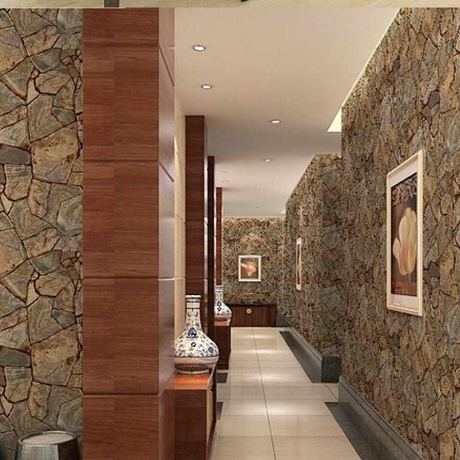 ПВХ имитация камня кирпичное зерно papel де parede 3d обои декорирование стен для гостиной ванной обои