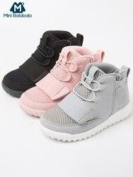 Mini Balabala Kids Ademend Hi-top Sneakers Peuter Jongens Lichtgewicht Herfst Mesh Loopschoenen Sport Schoeisel Non-skip ontwerp