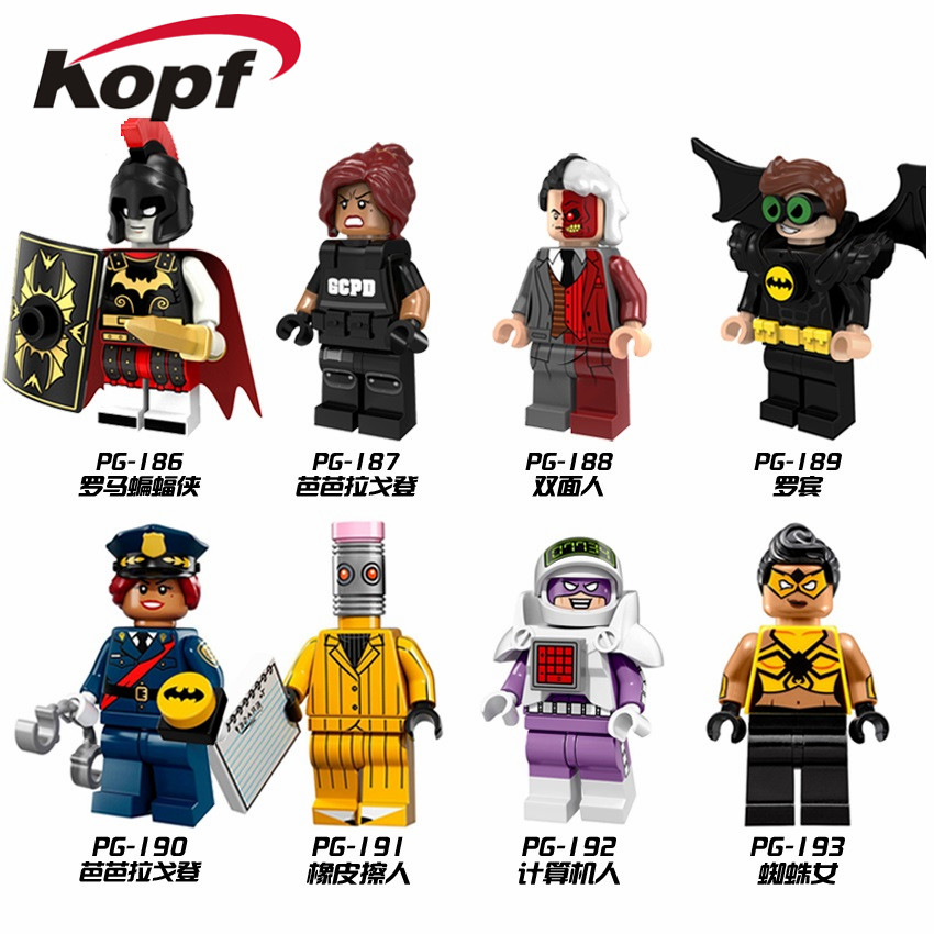 Super Heroes Rome Batman Spider Woman Eraser Man Robin Two Face Barbara Gordon Bricks Building Blocks Children Gift Toys PG8052 gsou snow brand ski suit women ski jacket snowboard pants waterproof cheap skiing suit female winter snowboard sets outdoor coat