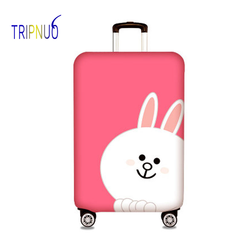 TRIPNUO Elastic Fabric White Rabbit Luggage Protective Cover, Suitable18-32 Inch ,Trolley Case Suitcase Cover,Travel Accessories