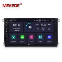 MEKEDE автомобильный мультимедийный плеер 1DIN автомобиль радио gps Android 9,0 для Porsche/Cayenne OBD2 микрофон громкой связи Bluetooth USB DVR dab Wi Fi