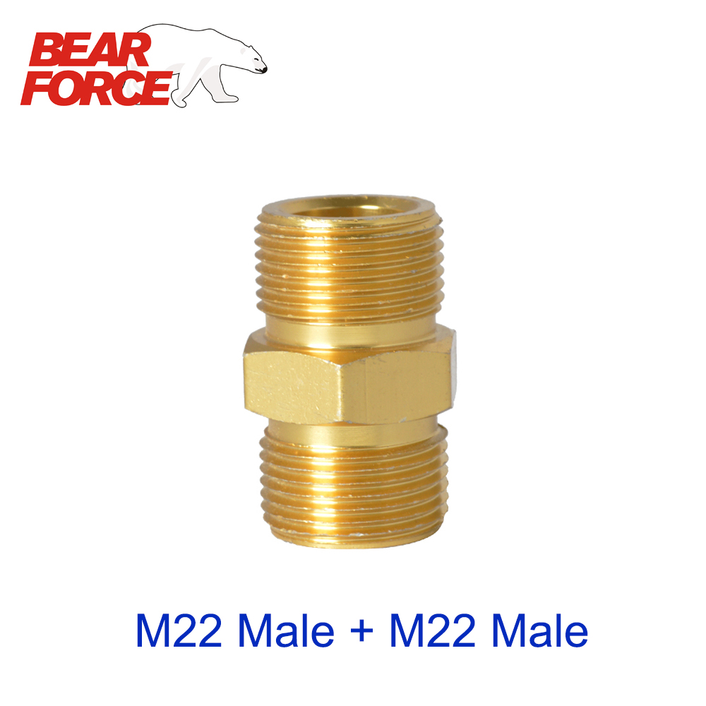 High Pressure Washer Car Washer Hose Extension Connector Adapter M22 Male ID14 - M22 Male ID15