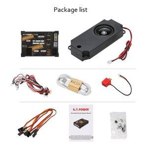 Image 4 - GT POWER RC Módulo de juguete para coche, sistema de sonido/luz simulado para coche de escalada, SUV, Control remoto, camión, vehículo, pieza DIY