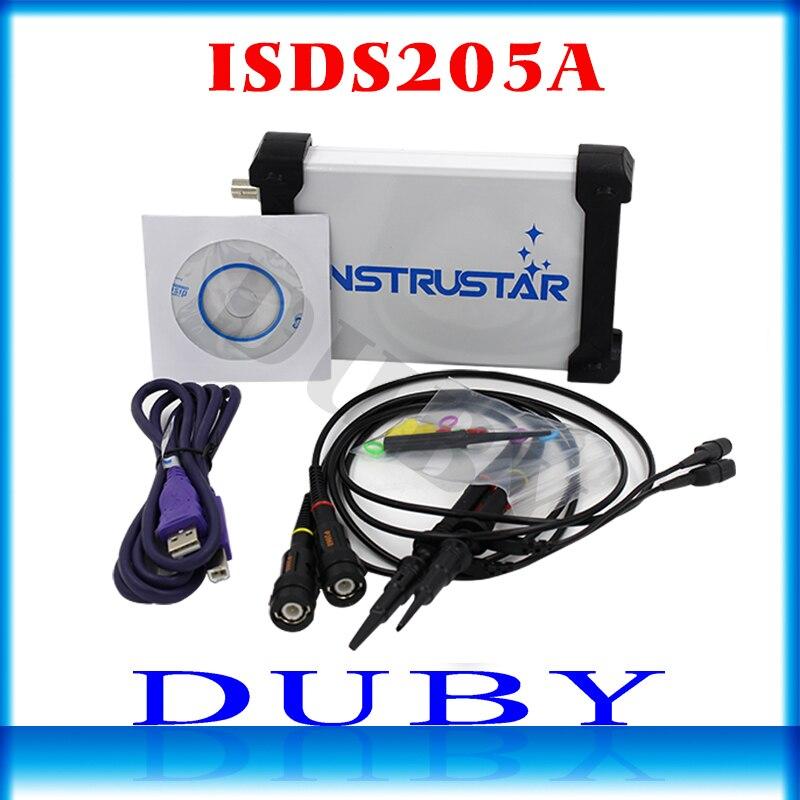 MDSO ISDS205A Nouvelle mise à jour 3 EN 1 Multifonctionnel 20 M PC USB virtuel Numérique oscilloscop + analyseur de spectre + données enregistreur