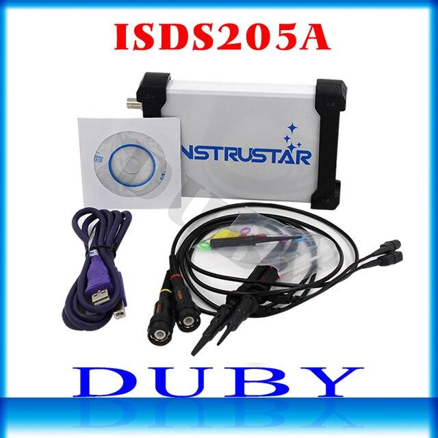 Mdso isds205a nova atualização 3 em 1 multifuncional 20m usb osciloscópio digital virtual + analisador de espectro gravador dados