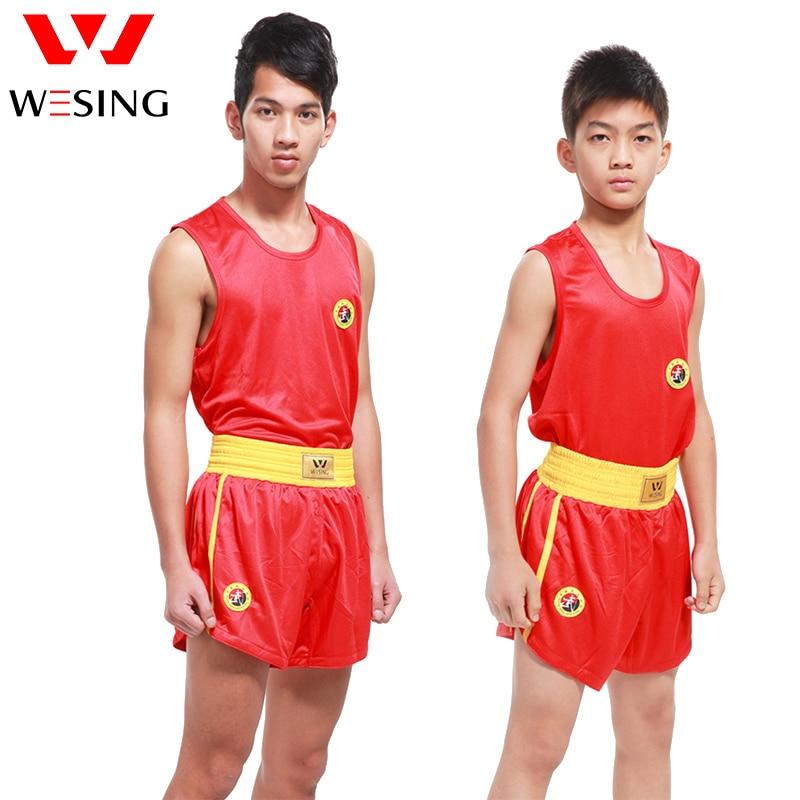 Wesing arte marcial erwachsene Sanshou-Anzug-Sanda-Anzug für Wettkampf- und Kampfsportanzug