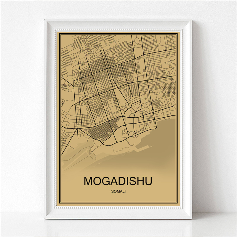 Detail Feedback Questions About World Map Mogadishu Vintage Poster