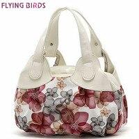 FLYING BIRDS 2013 New Popular Flower Pattern PU Leather Women Handbags Totes For Female SH462