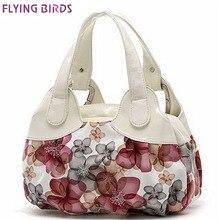 Flying birds! bolsos de cuero de las mujeres Populares del patrón de flor de Las Mujeres bolsos de hombro bolso de las señoras bolsas de asas de las mujeres SH462