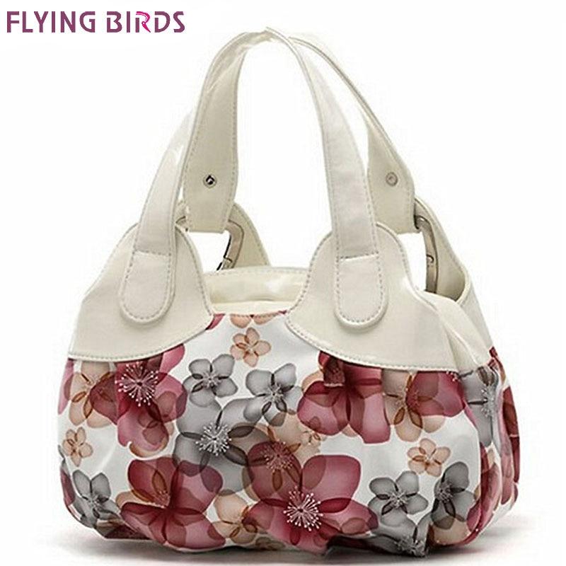 Flying birds! bolsos de cuero de las mujeres Populares del patrón de flor de Las