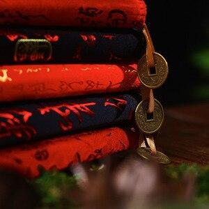 Image 4 - Cuaderno tallado de estilo chino clásico, libreta creativa con brocado de dragón chino, cuaderno de regalo de negocios a la moda, 50 hojas