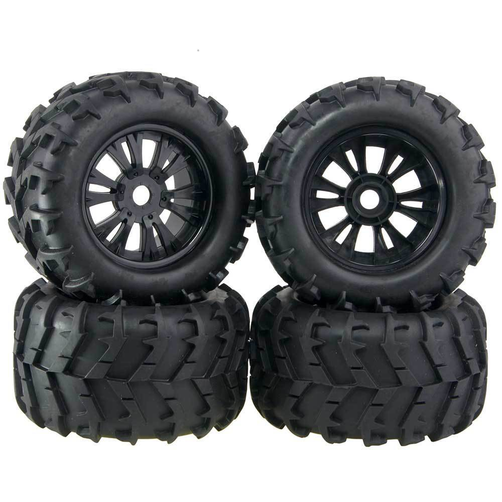 4pcs 3 2 rubber rc 1 8 wheels tires 150mm for off road monster truck 17mm hex for traxxas hsp. Black Bedroom Furniture Sets. Home Design Ideas