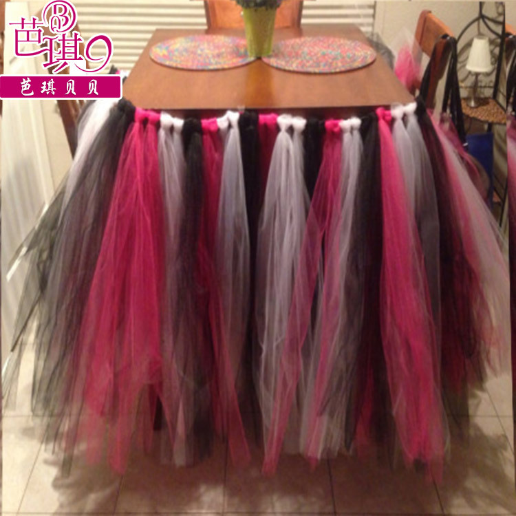 Hotel DIY Tablecloth Tutu Skirt For Table Wedding Supplies Party Home Decoration Cloths Skirts Dresses In Tablecloths From Garden On