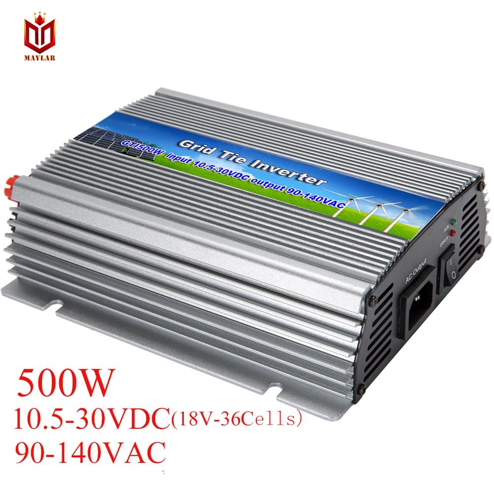MAYLAR@ 500 W Solar Grid Tie Micro Power Inverter 10.5-30VDC,90-140VAC , 50Hz/60Hz,For Solar Home System maylar 22 60vdc 500w solar grid tie pure sine wave inverter power supply 90 140vac 50hz 60hz for vmp29 40vmp panles
