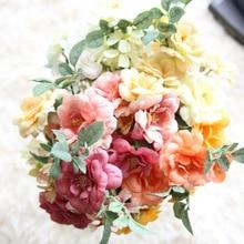Klonca Natural High-gradesilk Flower 34cm 1pc/lot Fake Flower Artificial Camellia Flower Wedding Party Home Decoration