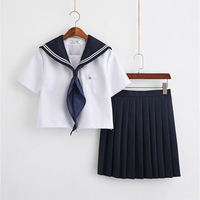 Japanese Student Girls School Uniforms Halloween Christmas Sailor Suit Full Sets S XXL ZF 0016